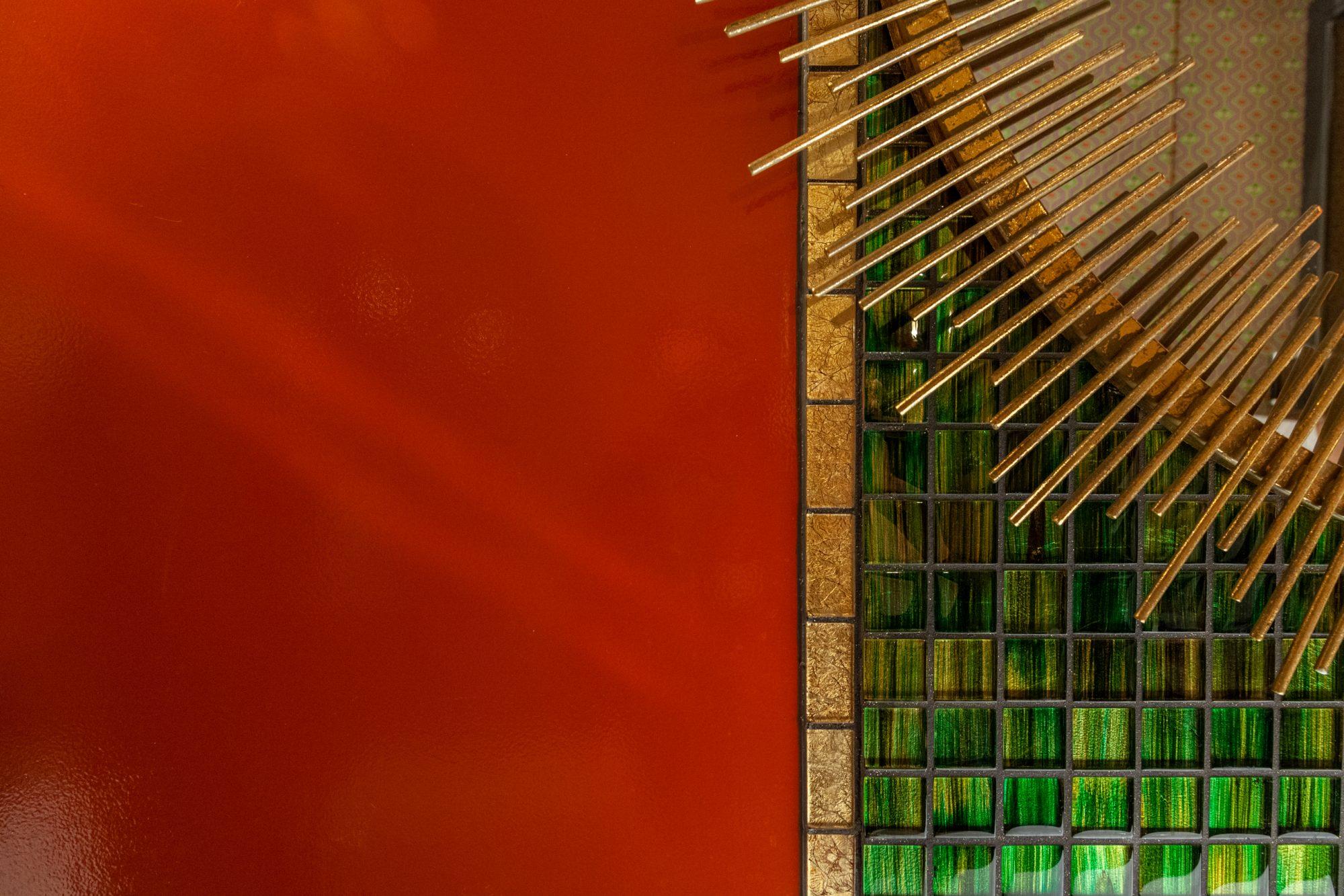 lindholz interior design detail farrow and ball charlottes locks emerald glass mosaic tiles